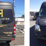 van wrap, matte black wrap, sprinter wrap, van graphics