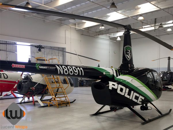 helicopter wrap, helicopter graphics, helicopter decals