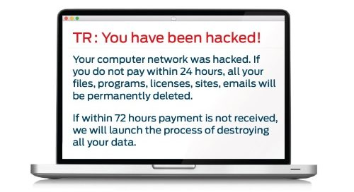 TR : YOU HAVE BEEN HACKED!