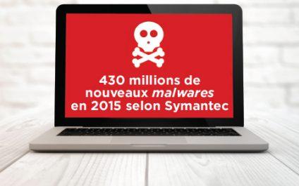 430 millions de nouveaux malwares en 2015 selon Symantec