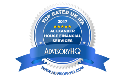 """Alexander House Financial Services Ltd has been ranked by AdvisoryHQ in the """"Top 13 Best Financial Advisers in the UK"""" for 2017"""