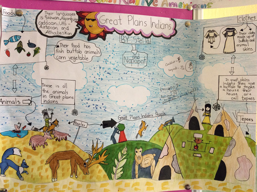 Social studies project on Native Americans