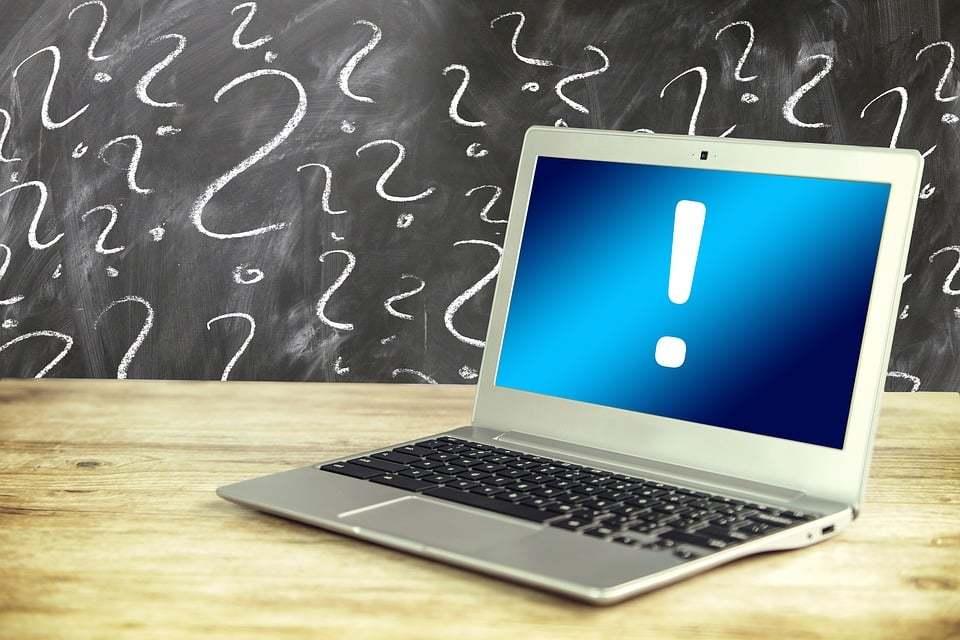 laptop question mark