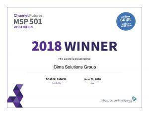 Cima Award - MSP 501