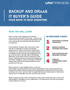 2018 Buyer's Guide 5 Steps to Picking the Last DR Solution Vendor You'll Need