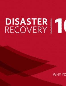 Disaster Recovery 101
