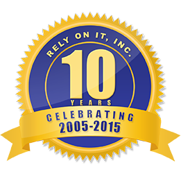 Rely On IT Anniversary Badge