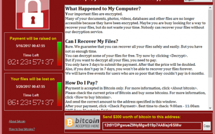 Wanna Decrypter 2.0 ransomware attack