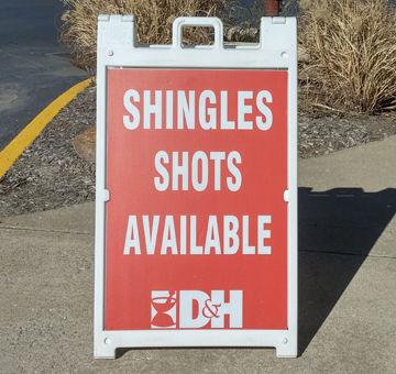 shingles shots available! don't wait. vaccinate no appointment necessary