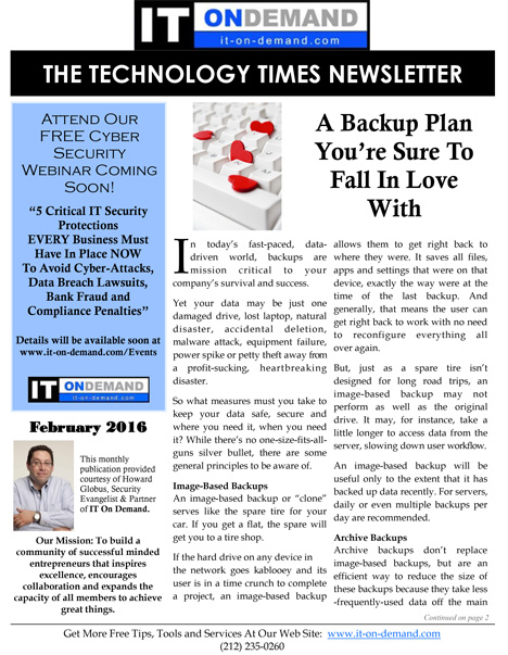 February-2016-TechTimes-Newsletter-IT-On-Demand-1