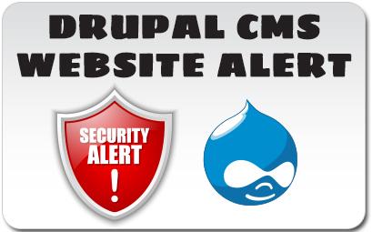 Drupal CMS Website Alert