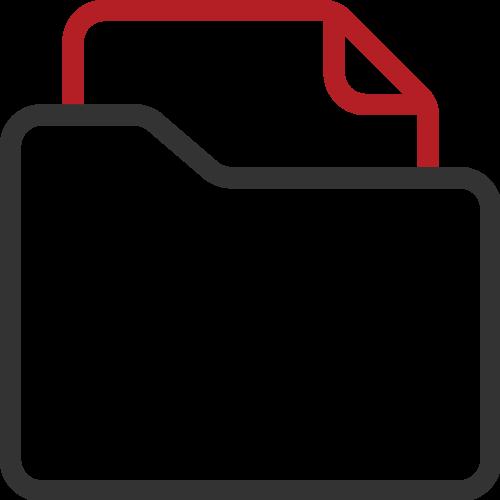 Cloud law management software, document management icon