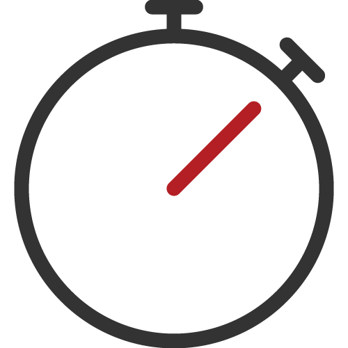Cloud law management software, time tracking icon